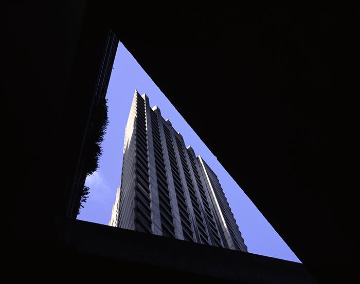 Lauderdale tower from Beech street pavement
